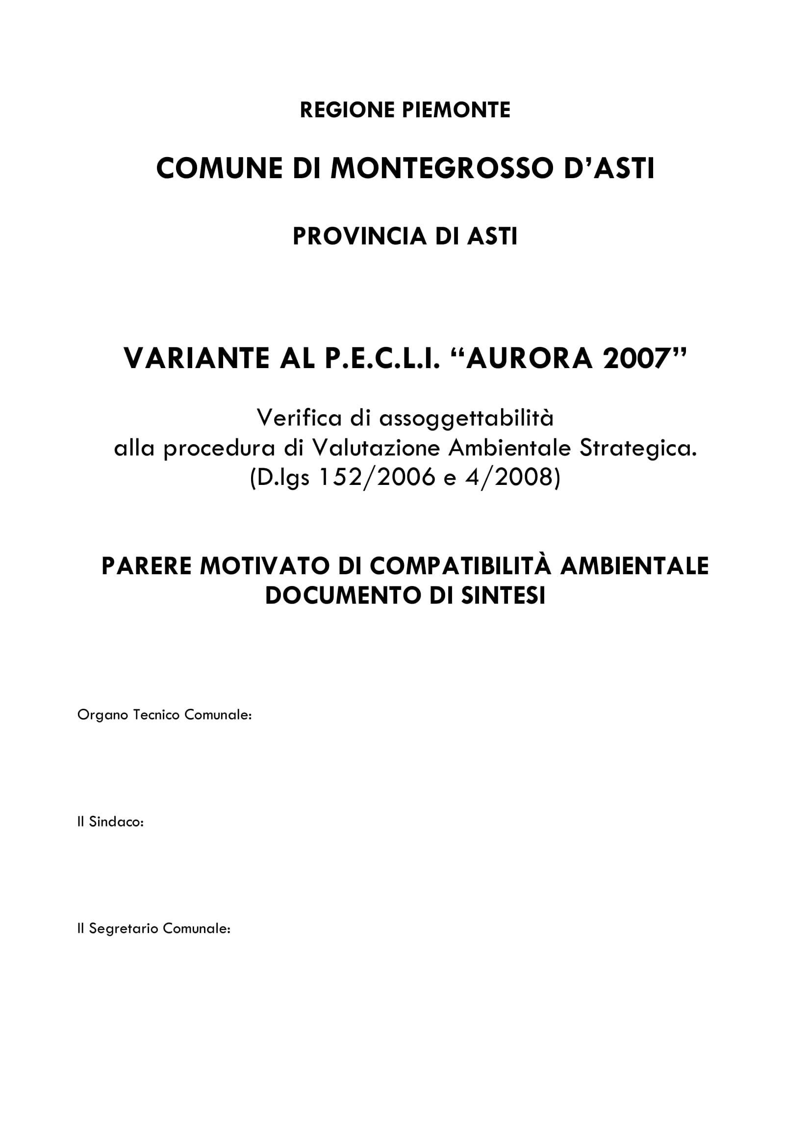Organo Tecnico Pecli Aurora