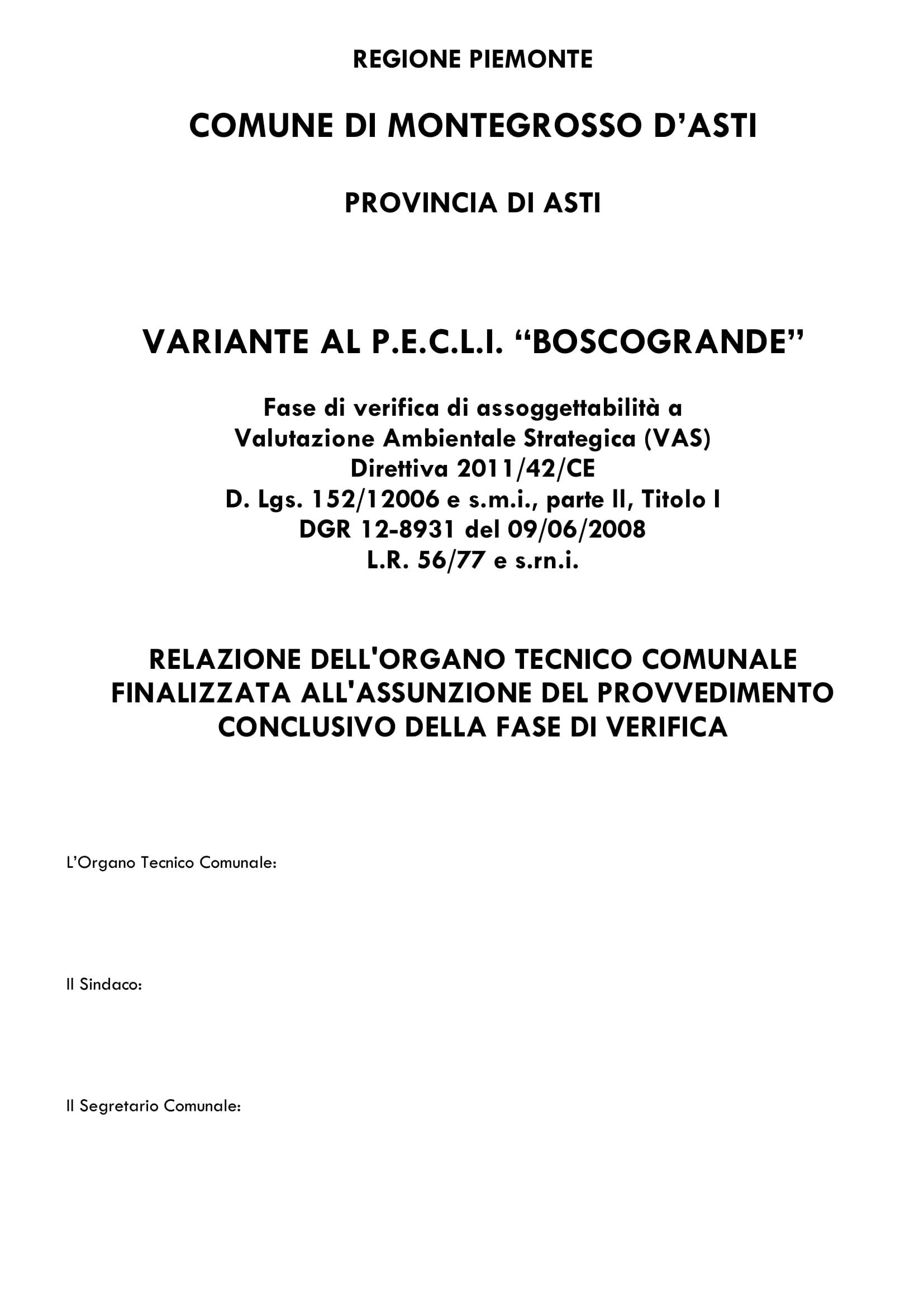Organo Tecnico PECLI