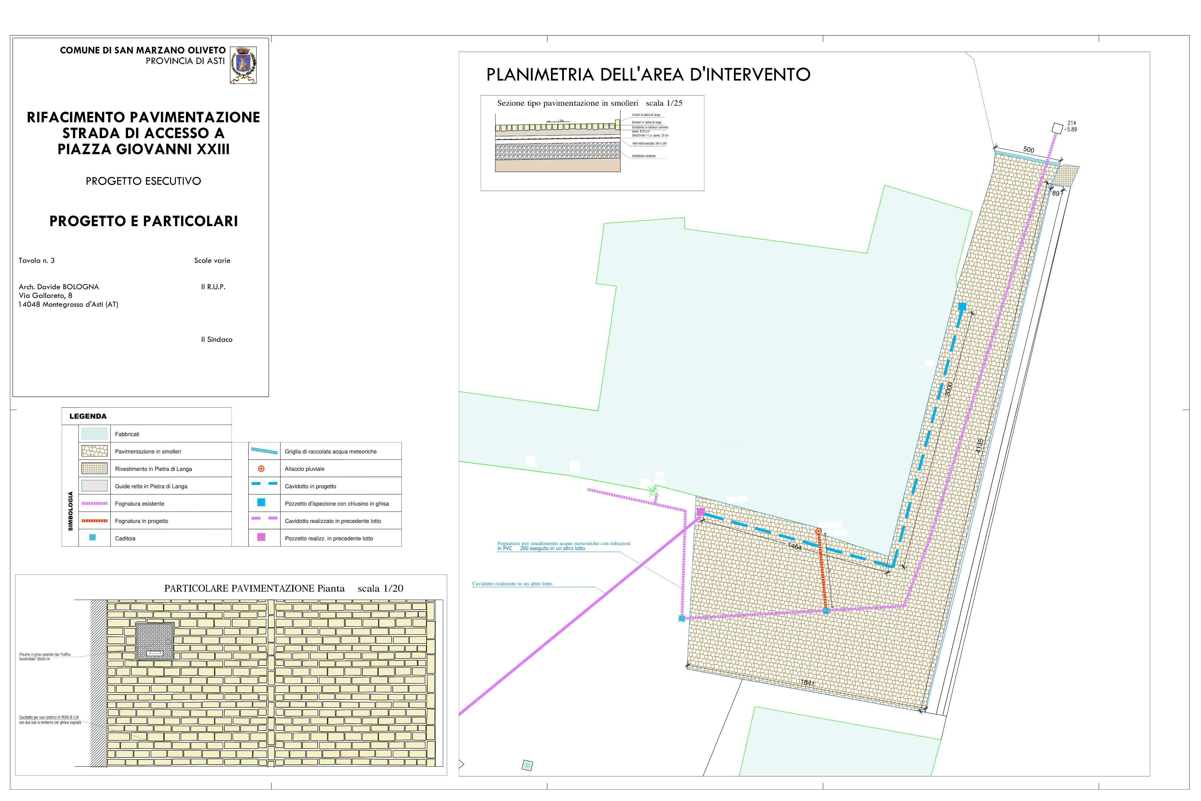 Rifacimento Pavimentazione Piazza Giovanni XXIII – San Marzano Oliveto (AT)