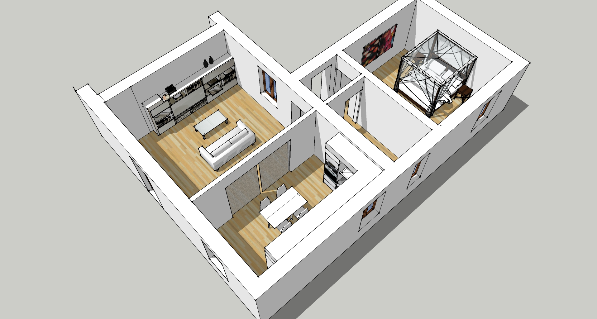 Ristrutturazione interna di appartamento in casa padronale – Montegrosso d'Asti (AT)